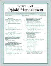Journal of opioid management (in SafetyLit)